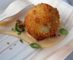 Bacon, Cheddar, and Grits Croquette