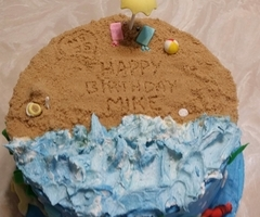 Beach Day Birthday Cake