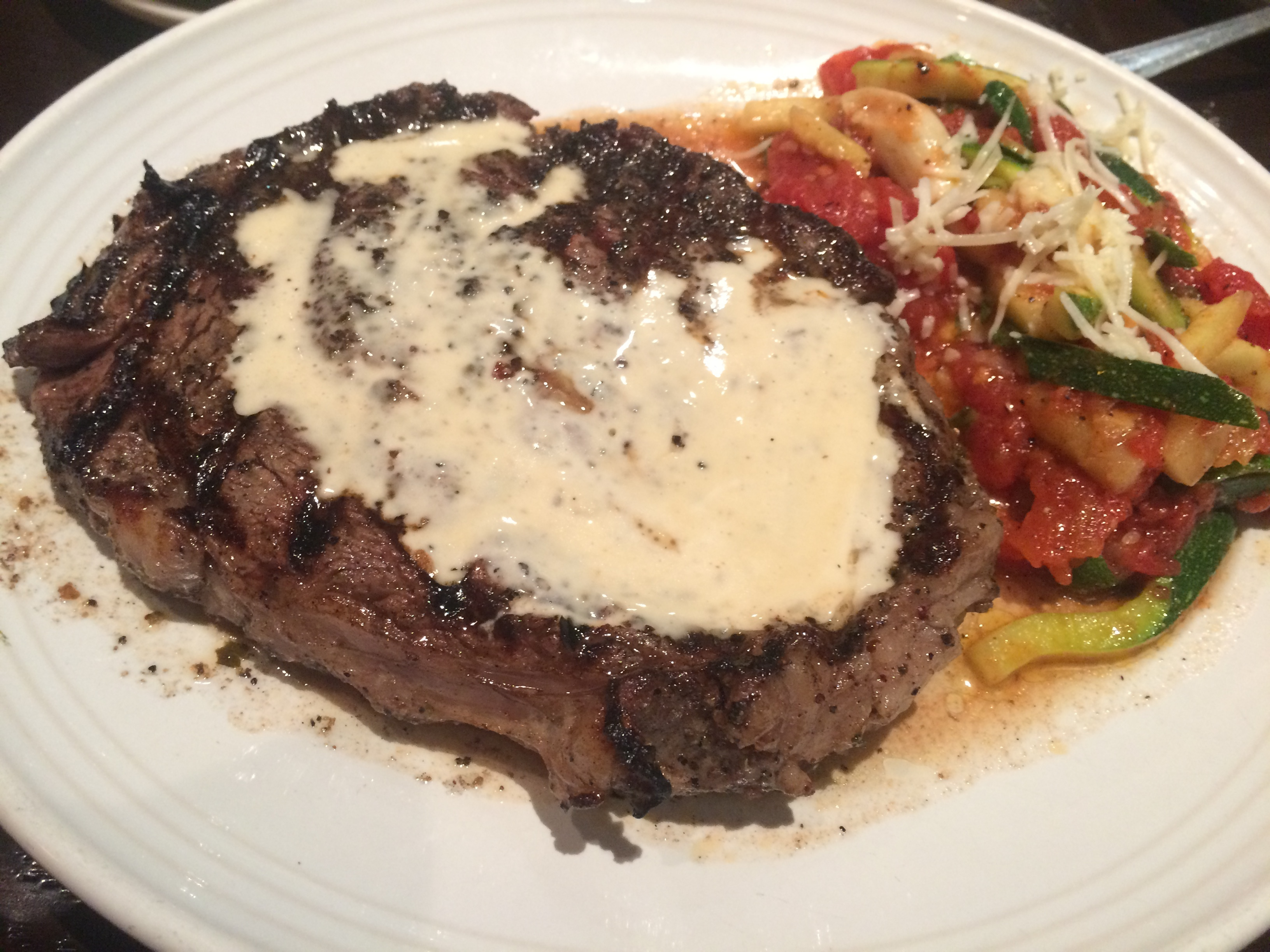 Ribeye with Gorgonzola Sauce