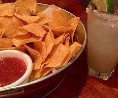 Margarita, chips and salsa