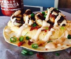 Blackened Shrimp and Cheesy Grits Taco